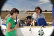 <h5>Marta's flight</h5><p>my three daughters preparing Marta´s flight. Marta is always wanting to fly. All three love light aerobatics  </p>